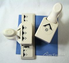 Instructions and measurements for using the Martha Stewart border and corner punches