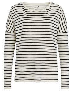 6912df9125b8 JUVIA Shirt mit Streifen - elfenbein schwarz Jetzt auf kleidoo.de  bestellen!