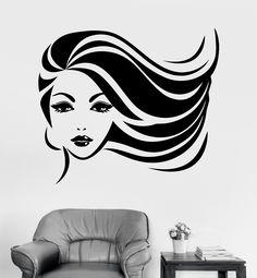 Vinyl Wall Decal Beauty Spa Salon Pretty Woman Hair Barbershop Stickers (289ig)