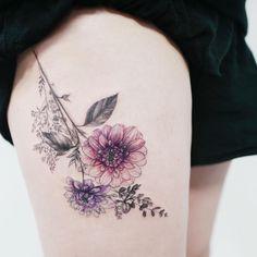 awesome Красивые татуировки для девушек на ноге (50 фото) — Большие и маленькие