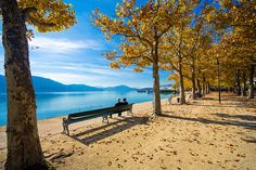 Take a relaxing break at a lovely bench next to lake Worthersee in Carinthia, Austria Klagenfurt, Dream Vacations, Vacation Spots, Beautiful World, Beautiful Places, Simply Beautiful, Oh The Places You'll Go, Places To Visit, Carinthia