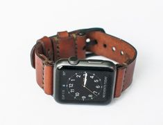 599b71f0f01 Leather Apple Watch Strap by Bexar Goods Co. » Review  applewatchbands  Correas De Reloj
