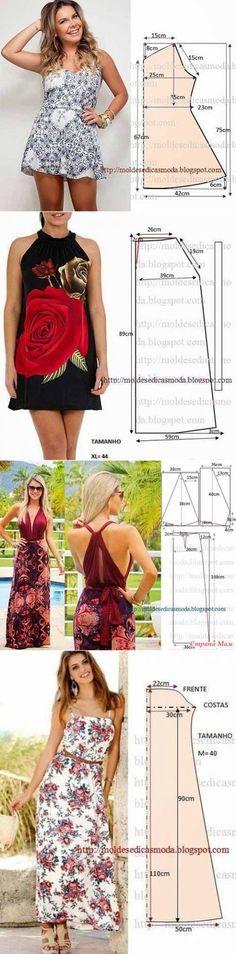 Простые выкройки летних платьев и сарафанов...<3 Deniz <3