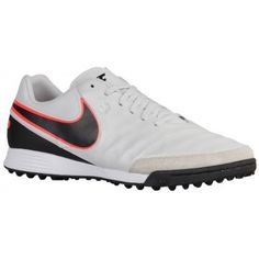 best value fbc6b b8a4d Nike Tiempo Genio II Leather TF - Men s - Soccer - Shoes - Pure  Platinum Black Metallic Silver Hyper Orange-sku 19216001