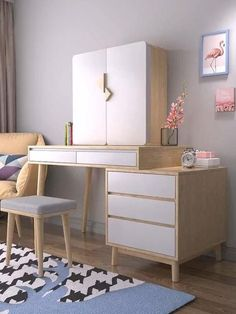 Dressing Table Makeup Desk Video - The Effective Pictures We Offer You About diy A quality picture can tell you many things. Dressing Table Design, Room Decor, Room Design Bedroom, Girl Bedroom Decor, Aesthetic Room Decor, Bedroom Interior, Bedroom Furniture, Dressing Room Design, Furniture Design