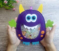 Monster 1st Birthdays, Monster Birthday Parties, Felt Monster, Monster Toys, Toddler Toys, Baby Toys, Spy Bag, Little Monster Party, Monster Decorations
