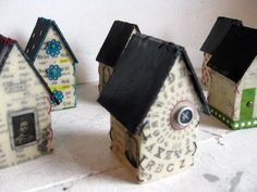 Little art houses...these could be adapted for a self portrait project or an artist research project.