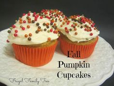 Frugal Family Tree: Pumpkin Cupcakes With Cream Cheese Frosting