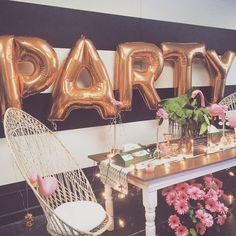 11 Things the Cutest Parties Always Have: See? Letter balloons couldn't be more perfect for a party!