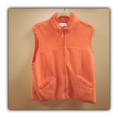 Coldwater Creek Excellent condition. Only worn a few times. Color is nice and bright orange! Lining is fluffy and warm! Coldwater Creek Jackets & Coats Vests