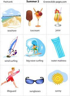Summer 2 flashcard