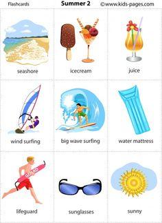 Summer 2 flashcard