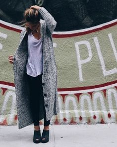 It's cardigan season! Get comfy! Shop our selection now on shopmanoir.com  #shopmanoir #montreal #cardican #ootd