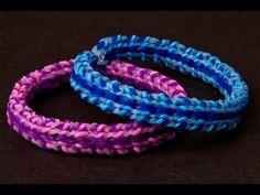How to Make a Rainbow Loom Speckled Stripe Bracelet - Advanced - YouTube
