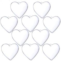 YUYIKES Clear Plastic Fillable Christmas DIY Craft Ball Ornaments 10 pcs 394 inch Heart >>> Details can be found by clicking on the image. (This is an affiliate link) Clear Ornaments, Ball Ornaments, How To Make Confetti, Craft Packaging, Sewing Crafts, Diy Crafts, Plastic Easter Eggs, Arts And Crafts Projects, Amazon Art
