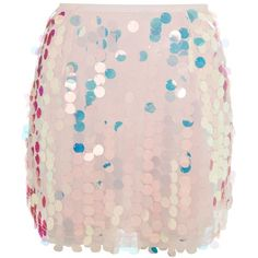Weaver Skirt by Motel ($36) ❤ liked on Polyvore featuring skirts, mini skirts, multi, sequin skirt, pink mini skirt, high rise skirts, high waisted mini skirt and going out skirts
