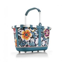 Koszyk carrybag 2 flower - DECO Salon. Shopping cart, on a picnic, to the beach or the garden - multitasking, from brand Reisenthel #dladomu #accessories #forhome #giftidea #shopping