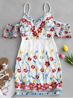 Up to 80% OFF! Cold Shoulder Floral Embroidered Mini Dress. #Zaful #Dress Zaful,zaful outfits,zaful dresses,spring outfits,summer dresses,Valentine's Day,valentines day ideas,valentines outfits,cute,casual,classy,fashion,style,dress,long dress,maxi dress,mini dress,long sleeve dress,flounced dress,vintage dress,casual dress,lace dress,boho dress, flower dresses,maxi dresses,evening dresses,floral dresses,long dress,party dress,bohemian dresses,floral dress @zaful Extra 10% OFF Code:ZF2017