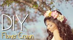 DIY Flower Crown! LOVED THIS ONE!! Looks pretty easy ! Need to make this for daughter !