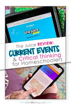 Need help teaching current events in your homeschool? No worries, The Juice can help you cover the news, promote media literacy, develop critical thinking skills in just a few minutes each day!