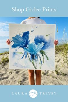 Artist Laura Trevey - Coastal art prints for your home. Shop now with free shipping.