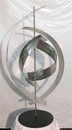 Modern contemporary stainless steel sculpture