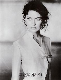 Shalom Harlow photographed by Paolo Roversi - Giorgio Armani Ad Campaign: 1998