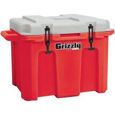 Grizzly 60 Qt Heavy Duty Ice Retention Cooler - Red / White - Made in USA NEW #GrizzlyCoolers