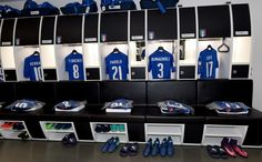 Italy dressing room prior to the FIFA 2018 World Cup Qualifier between Italy and Spain at Juventus Stadium on October 6, 2016 in Turin, Italy.
