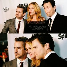 his face in the first picture 😂😂😂 #mattbomer #dermotmulroney #juliaroberts #tvspikechoice #appearances #outfit #matthewbomeredits #bae