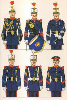 Regno di Juan Carlos I. Compañias de Fusileros y Transmisiones Military Uniforms, Army & Navy, Star Wars Clone Wars, Naomi Campbell, Tanks, Captain Hat, Spanish, Empire, How To Wear