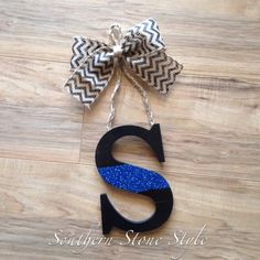 Personalized door letter hanger, thin blue line, police lives matter, police wife life
