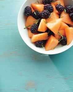 Blackberry, Cantaloupe, Lime and Mint Salad
