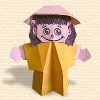 Free tutorial from my favorite Origami Site to make this little girl