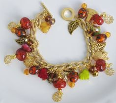 My Handcrafted Fall/Thanksgiving Charm Bracelet