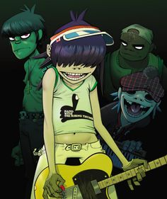 Gorillaz by Jamie Hewlett *