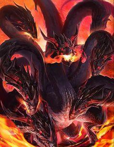 Artist: Unknown - Title: Unknown - Card: Immortal Naga (Rebirth)