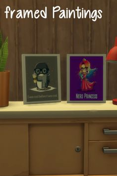 Framed paintings at ChiLLis Sims • Sims 4 Updates