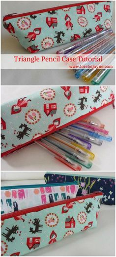 Triangle Pencil Case Pattern   Pinterest   Sewing patterns ...