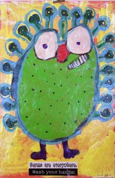 Germ Paintings - encourage kids to wash their hands!