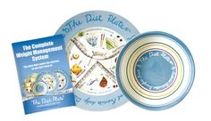 The Diet Plate® & bowl FEMALE weight loss system Portion Control Made Easy.