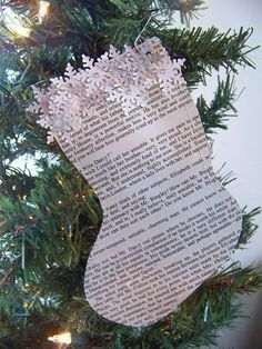 30 Cute Recycled DIY Christmas Crafts... Fun for gift tags!