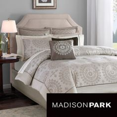 Madison Park Tiburon Tan California King Comforter Set X - Tan - Queen Blue Comforter Sets, King Comforter, Duvet Sets, Duvet Cover Sets, Taupe Bedding, Duvet Bedding, California King, Brown Duvet Covers, Bed In A Bag
