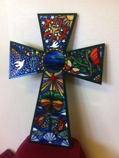 2014 Faith Cross Stain Glass Mosaic. Creation