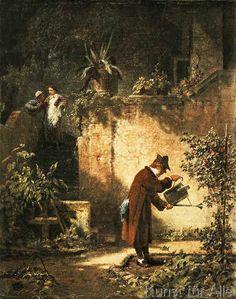 Carl Spitzweg - Der Gartenfreund