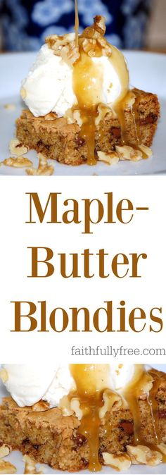 Sinfully Delicious Maple Butter Blondies