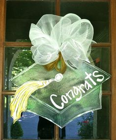 Graduation Cap Door Hanger by BronwynHanahanArt on Etsy, $45.00