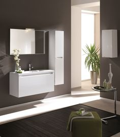 Serenity 100 1S white. #elita #meble #lazienka #serenity #furniture #bathroom
