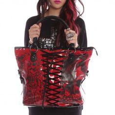 American Nightmare Handbag - Red and Black