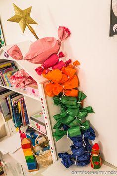 De mi casa ¡al mundo!: DIY: Eco calendario de adviento de inspiración Waldorf. Tutorial Stick Advent Calendar Waldorf